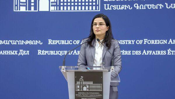 Пресс-секретарь МИД Армении Анна Нагдалян - Sputnik Армения