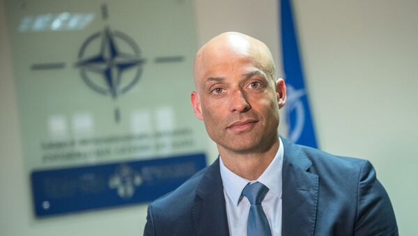 Пресс-конференция спецпредставителя НАТО на Южном Кавказе Джеймса Аппатурая (11 марта 2019). Еревaн - Sputnik Армения