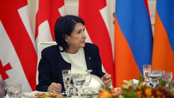 Официальный ужин в честь президента Грузии Саломе Зурабишвили (13 марта 2019). Еревaн - Sputnik Արմենիա