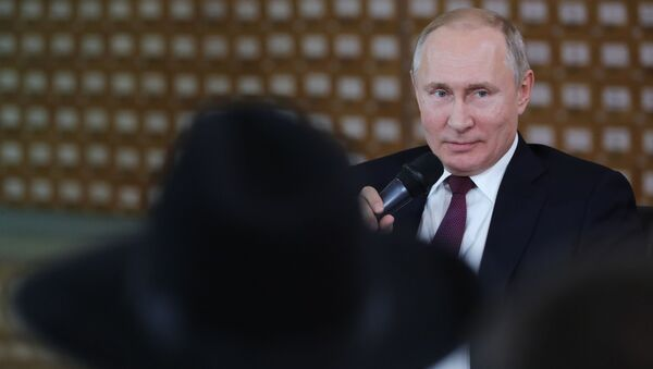 Рабочая поездка президента РФ В. Путина в Крым  - Sputnik Արմենիա
