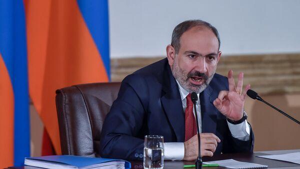 Пресс-конференция премьер-министра Никола Пашиняна (19 марта 2019). Еревaн - Sputnik Армения