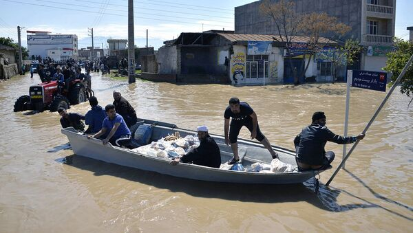 Затопленные улицы в северной иранской деревне Агх-Галех (23 марта 2019). Иран - Sputnik Армения