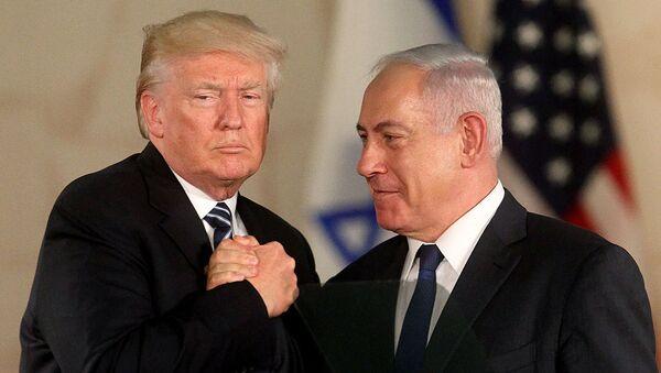 Президент США Дональд Трамп и премьер-министр Израиля Биньямин Нетаньяху в Музее Израиля (23 мая 2017). Иерусалим - Sputnik Армения