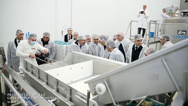 Премьер-министр Никол Пашинян принял участие на торжественном открытии молочного завода компании Спайка (26 марта 2019). Еревaн - Sputnik Армения