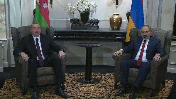 Пашинян и Алиев проводят встречу за закрытыми дверями - Sputnik Արմենիա