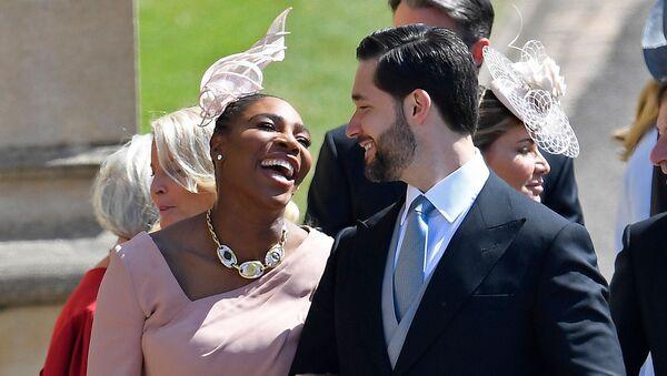 Алексис Оганян с супругой Сереной Уильямс на свадебной церемонии принца Гарри и Меган Маркл (19 мая 2018). Виндзор - Sputnik Армения