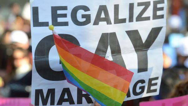 Тайвань. ЛГБТ активисты вышли на улицы с требованием узаконить однополые браки - Sputnik Армения