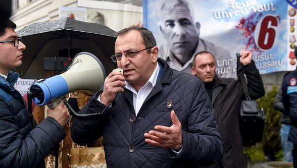 Представители АРФ Дашнакцутюн устроили акцию протеста перед зданием генпрокуратуры Армении (2 апреля 2019). Еревaн - Sputnik Армения