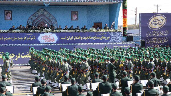 Марш военнослужащих Ирана во время ежегодного военного парада (22 сентября 2017). Тегеран - Sputnik Армения