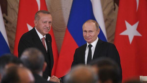 Реджеп Эрдоган и Владимир Путин - Sputnik Армения