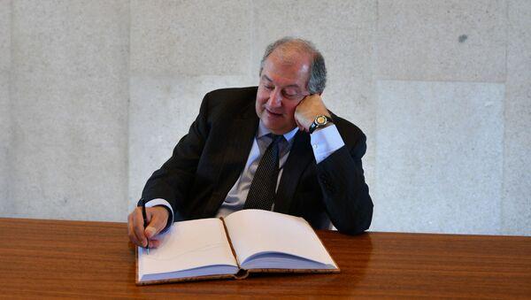 Президент Армен Саркисян посетил музей фонда Галуста Гюльбенкяна (9 апреля 2019). Лиссабон - Sputnik Արմենիա
