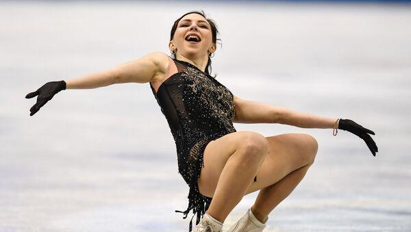 Выступление Елизаветы Туктамышевой в произвольной программе женского одиночного катания на командном чемпионате мира по фигурному катанию (13 апреля 2019). Фукуока - Sputnik Армения