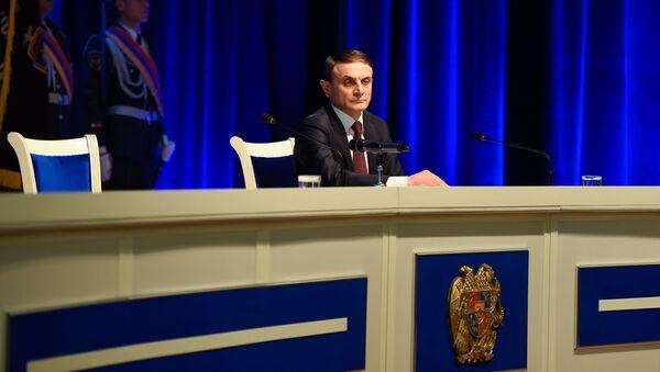 Начальник полиции  Армении Валери Осипян на торжественном заседании, посвященном Дню полиции Армении (16 апреля 2019). Ереван - Sputnik Армения