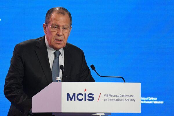 Министр иностранных дел России Сергей Лавров на VIII Московской конференции по международной безопасности (24 апреля 2019). Москвa - Sputnik Армения