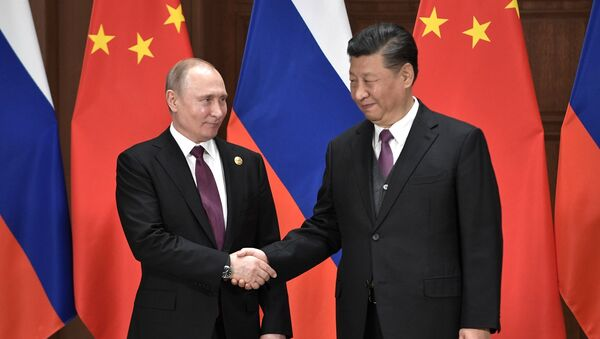 Встреча президента России Владимира Путина и председателя Китайской народной республики Си Цзиньпина (26 апреля 2019). Пекин - Sputnik Արմենիա