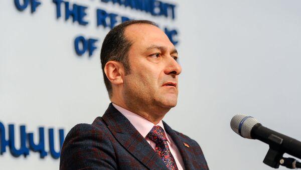 Министр юстиции Артак Зейналян на пресс-конференции (29 апреля 2019). Еревaн - Sputnik Արմենիա