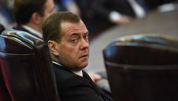 Премьер-министр России Дмитрий Медведев на расширенном заседании Евразийского межправительственного совета (30 апреля 2019). Еревaн - Sputnik Արմենիա