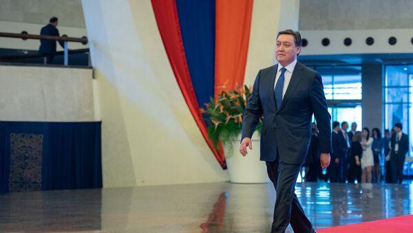 Премьер-министр Казахстана Аскар Мамин прибыл на заседание Евразийского межправительственного совета (30 апреля 2019). Еревaн - Sputnik Армения