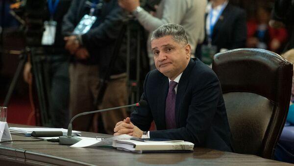 Председатель ЕЭК Тигран Саркисян во время заседания Евразийского межправительственного совета (30 апреля 2019). Еревaн - Sputnik Армения