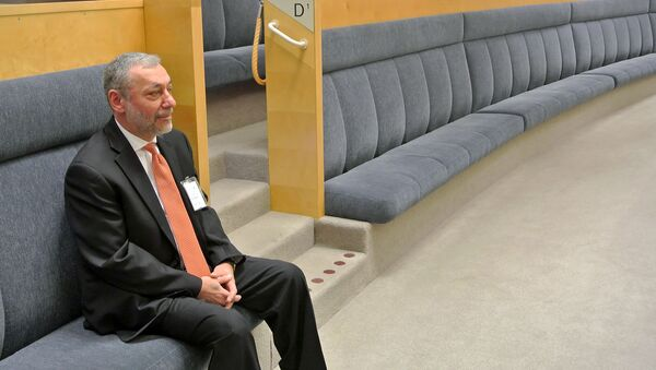 Посол Армении в Швеции Александр Арзуманян на заседании Рискдага по вопросу ратификации Соглашения о всеобъемлющем и расширенном партнерстве Армения-ЕС (2 мая 2019). Стокгольм - Sputnik Армения