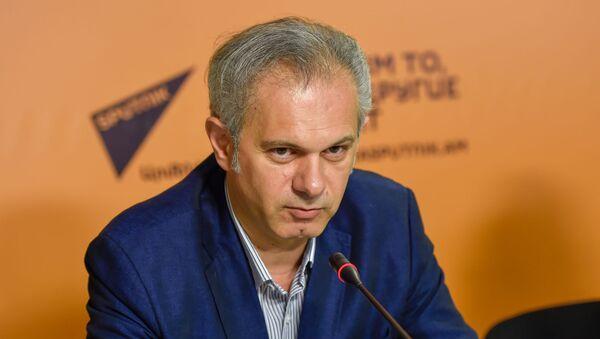 Рубен Пашинян на пресс-конференции по теме Что получится, если скрестить ИТ и туризм (6 мая 2019). Еревaн - Sputnik Армения