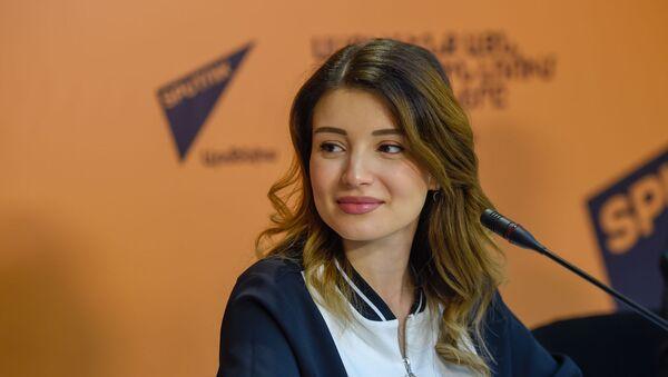 Лиана Барсамян на пресс-конференции по теме Что получится, если скрестить ИТ и туризм (6 мая 2019). Еревaн - Sputnik Армения