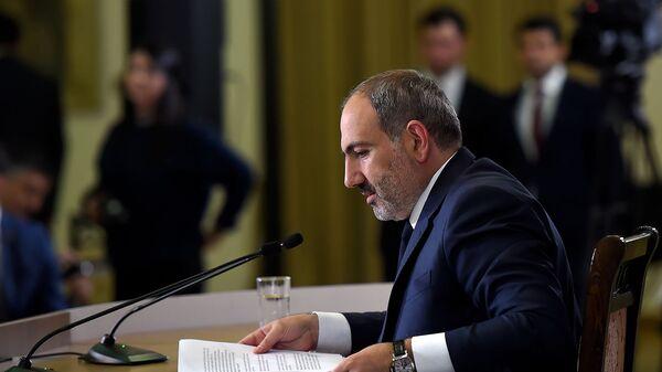 Пресс-конференция премьер-министра Никола Пашиняна по итогам первого года пребывания на посту (8 мая 2019). Еревaн - Sputnik Армения