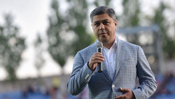 Речь президента ФФА Артура Ванецяна перед началом финала Кубка Армении по футболу (8 мая 2019). Еревaн - Sputnik Армения