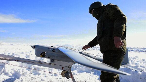 Запуск беспилотников на 102-й российской военной базе в Гюмри - Sputnik Армения