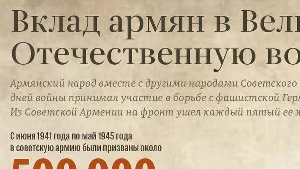 Вклад армян в Великую Отечественную войну - Sputnik Армения