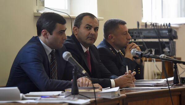 Генеральный прокурор Артур Давтян на заседании суда по делу 1 марта (13 мая 2019). Еревaн - Sputnik Армения