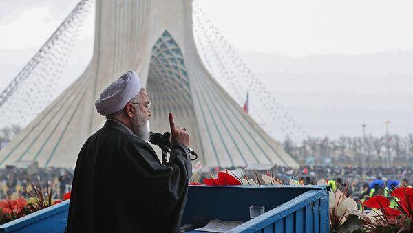 Президент Ирана Хасан Роухани во время празднования 40-й годовщины Исламской революции (11 февраля 2019). Тегеран - Sputnik Армения