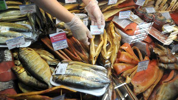 Рыбный отдел в магазине - Sputnik Արմենիա