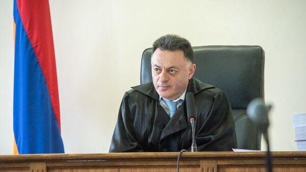 Судья Давид Григорян на заседании по делу 1 марта (17 мая 2019). Еревaн - Sputnik Армения