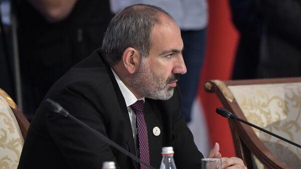 Премьер-министр Армении Никол Пашинян на заседании Высшего Евразийского экономического совета, приуроченного к пятилетию подписания Договора о Евразийском экономическом союзе (29 мая 2019). Нур-Султан - Sputnik Արմենիա