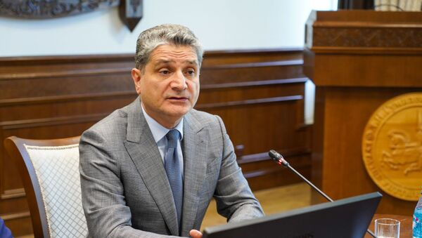 Тигран Саркисян на встрече в ЕНУ имени Льва Гумилева - Sputnik Армения