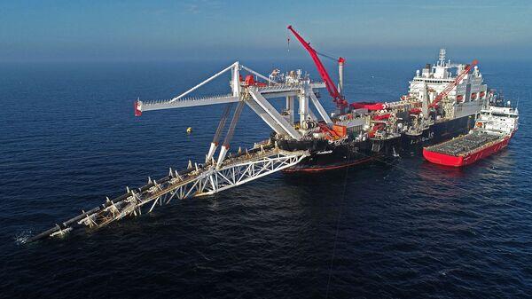 Судно на шельфе Балтийского моря по газопроводу Северный поток 2 - Sputnik Армения