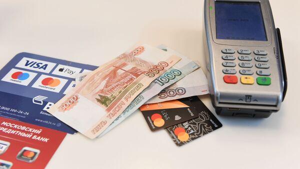 Терминал оплаты банковскими картами  - Sputnik Армения
