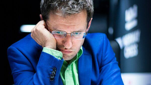 Гроссмейстер Левон Аронян во время партии с Магнусом Карлсеном в турнире Altibox Norway Chess 2019 (5 июня 2019). Ставангер, Норвегия - Sputnik Արմենիա
