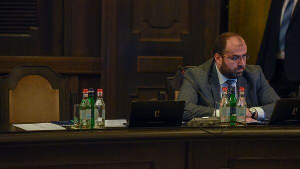Министр окружающей среды Эрик Григорян на заседании правительства Армении (6 июня 2019). Еревaн - Sputnik Արմենիա