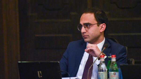 Вице-премьер Тигран Авинян на заседании правительства Армении (6 июня 2019). Еревaн - Sputnik Армения