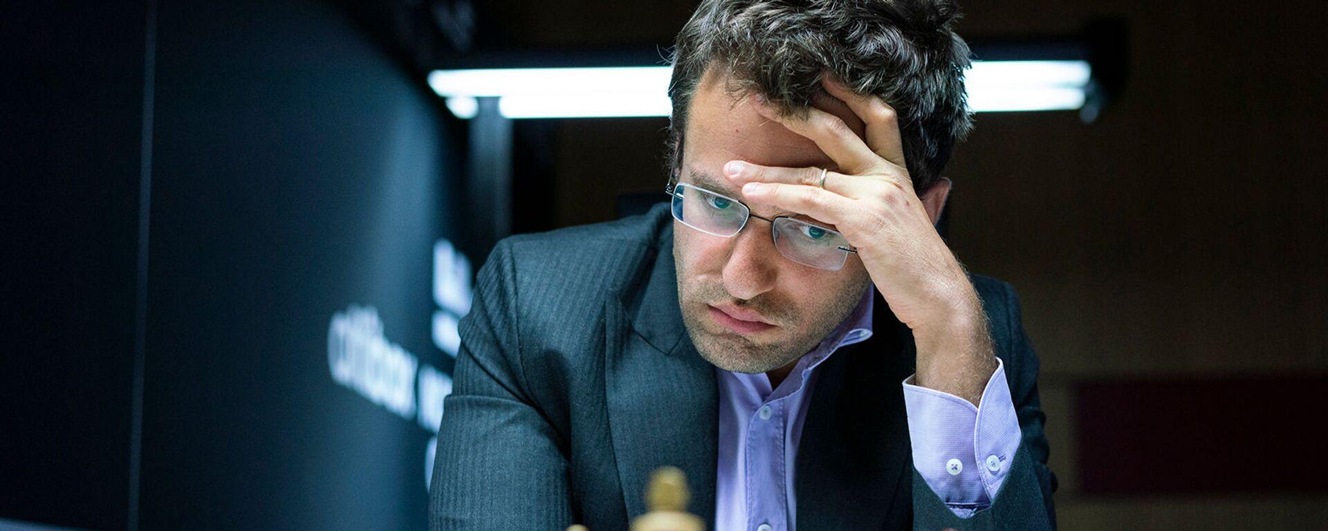 Левон Аронян во время партии с Шахрияром Мамедъяровым в турнире Altibox Norway Chess 2019 (6 июня 2019). Ставангер, Норвегия - Sputnik Արմենիա, 1920, 24.06.2021
