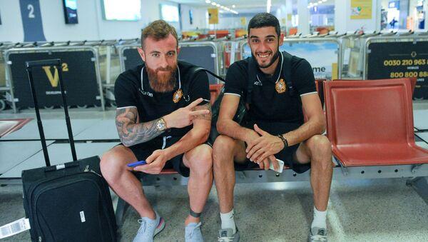 Футболисты сборной Армении прибыли в Афины на очередной матч отборочного тура Евро-2020 против сборной Греции (9 июня 2019). Афины - Sputnik Армения