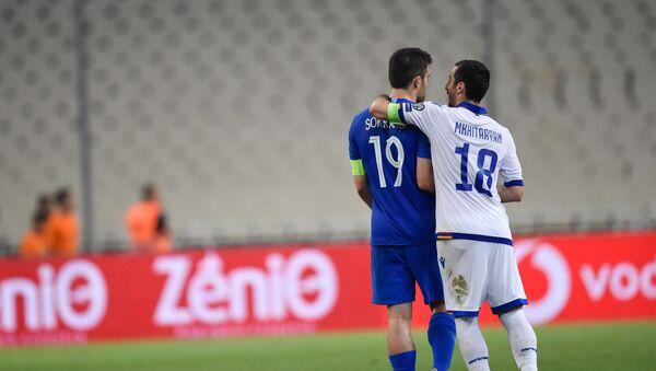 Футбольный матч отборочного тура Евро-2020 между сборными Греции и Армении (11 июня 2019). Афины - Sputnik Армения