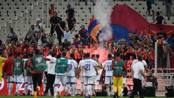 Футбольный матч отборочного тура Евро-2020 между сборными Греции и Армении (11 июня 2019). Афины - Sputnik Արմենիա