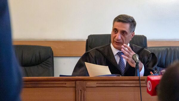 Судья Армен Даниелян на судебном заседании по делу 1 марта (14 июня 2019). Еревaн - Sputnik Армения