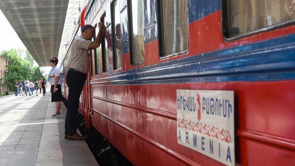 Первый рейс поезда Армения из Еревана в Батуми в 2019-ом году. - Sputnik Արմենիա