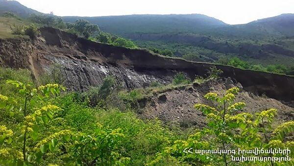 Оползни около села Халидзор - Sputnik Արմենիա