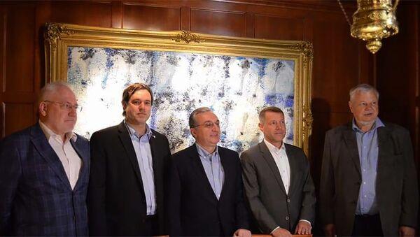 Встреча министра иностранных дел Армении Зограба Мнацаканяна с сопредседателями МГ ОБСЕ (19 июня 2019). Вашингтон  - Sputnik Армения