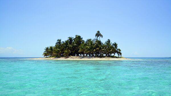 Тропический остров с пальмами - Sputnik Արմենիա
